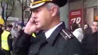 Securist rus și milițieni moldavi au sistat un miting pașnic