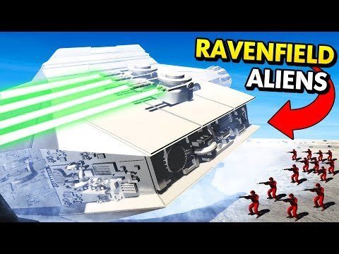 ALIEN SPACESHIP ON THE MOON IN RAVENFIELD! (Ravenfield Funny Gameplay)