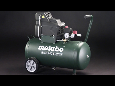 Metabo Basic Air Compressor 250-50W with Compressed Air Tool Set LPZ4 240V