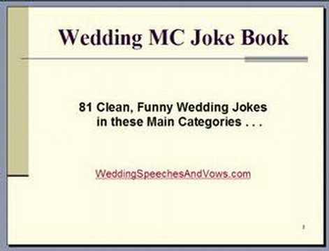 wedding mc joke book   youtube
