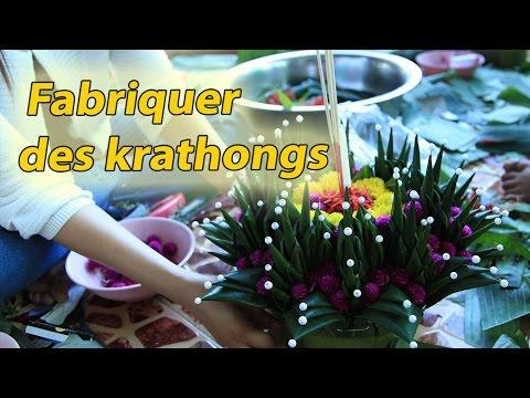 fabriquer des krathongs
