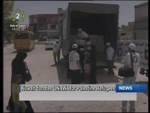 Kuwait donates USD 2 million to UNRWA to aid Palestinian refugees
