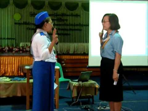 Myanmar Girl Guides 1st Asia Pacific WAGGGS Training