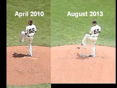 RHP Tim Lincecum pitching mechanics: 2013 vs 2010