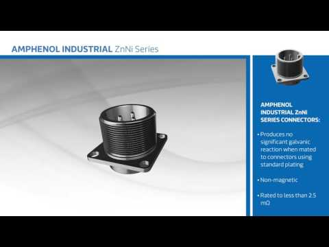 New at Mouser - Amphenol Industrial ZnNi Series