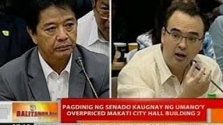 Pagdinig ng Senado kaugnay ng umano'y overpriced Makati City Hall Building 2