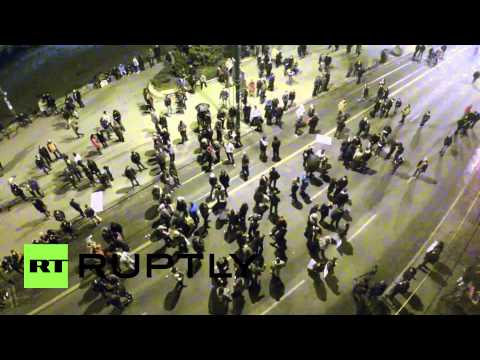 Bosnia and Herzegovina: Sarajevo protests from the air