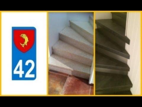Recouvrir marches d 39 escalier loire 42 youtube - Recouvrir des marches d escalier ...