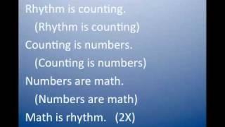 Rhythm Is Math
