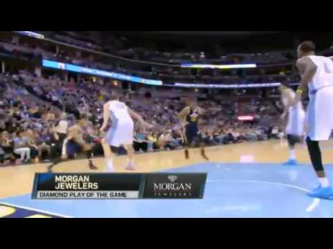 Derrick Favors HITS Tough One   Utah Jazz vs Denver Nuggets   December 13  2013   NBA 2013 14 Season