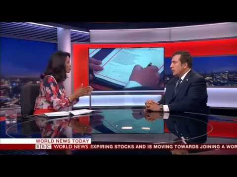 Mikheil Saakashvili/ Live BBC World News