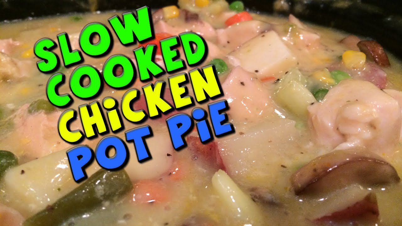 Slow cooked chicken pot pie recipe bodybuilding healthy youtube