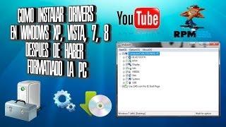 Como Instalar Drivers En Windows XP, Vista, 7, 8 Despues