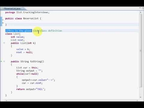 Programming Interview 1: Reverse a Linked List