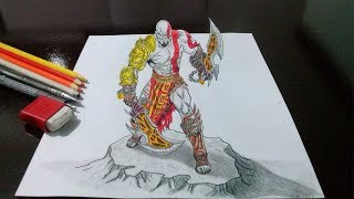 Desenhando O Kratos God Of War Em 3D Drawing Kratos