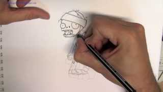 Cómo Dibujar Un Zombie Momia Del Juego Plantas VS Zombies