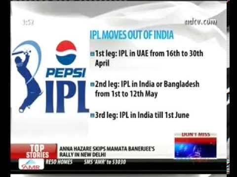 IPL starts in UAE on April 16