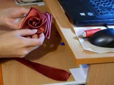 Сделать цветок из атласной ленты своими руками