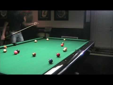 Oyster Power Billiards Break w/ 8-Ball Run-Out