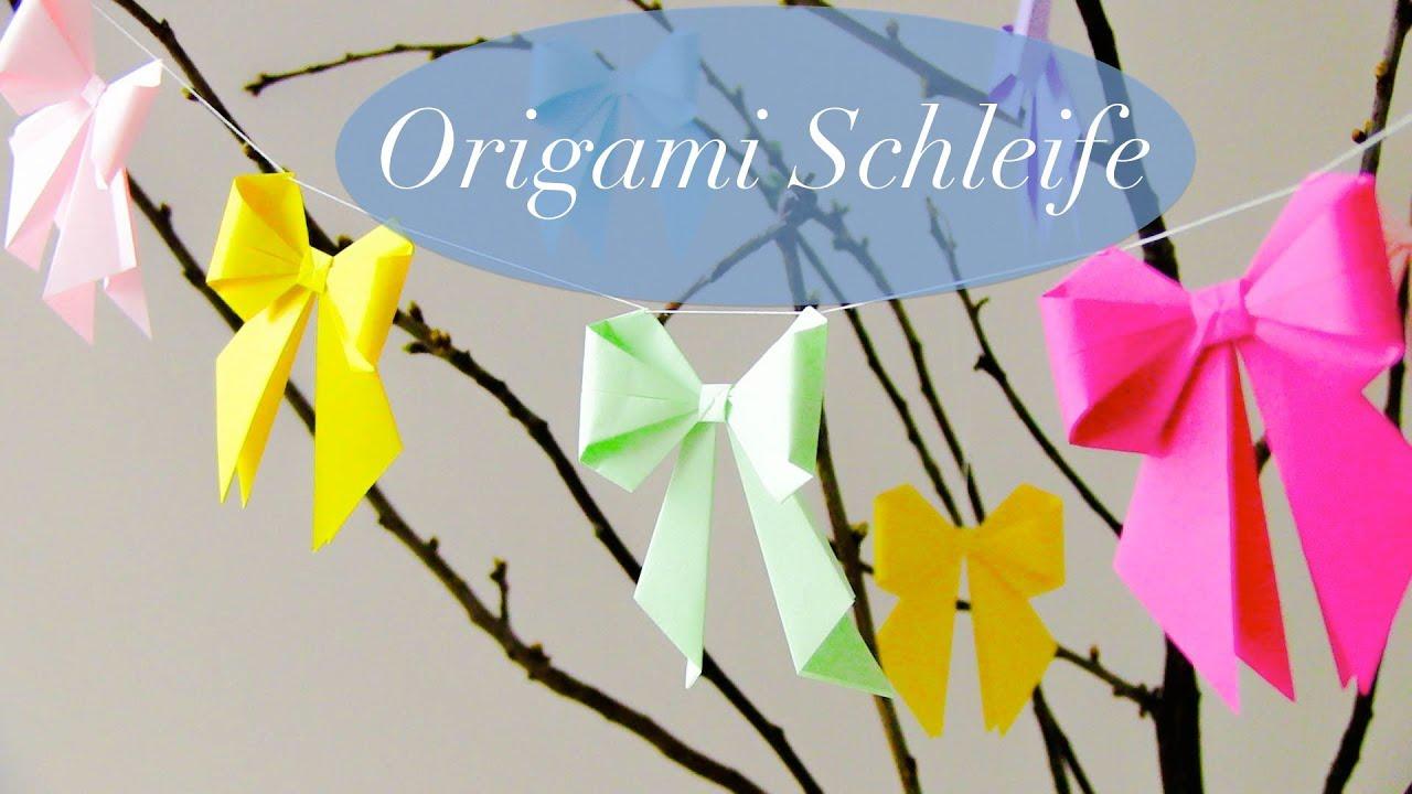 diy origami schleife youtube. Black Bedroom Furniture Sets. Home Design Ideas