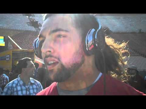 USC LB Anthony Sarao on depth and competition at the LB position.