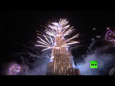 image vidéo  احتفالات عيد رأس السنة من برج خليفة في دبي