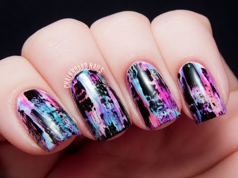 TUTORIAL: Distressed Nail Art (Punk/Grungy Effect),
