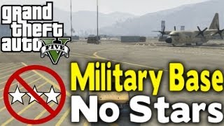 GTA 5 GET INTO MILITARY BASE WITH NO STARS (How To