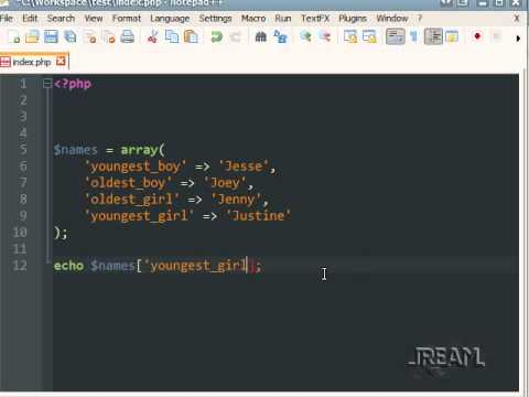 PHP Tutorial (1) Strings, Variables, Echo, Arrays