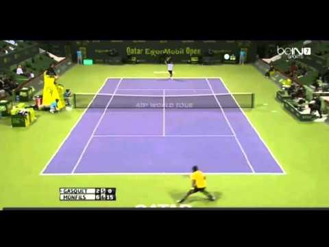 Richard Gasquet vs Gael Monfils - ATP Doha 2014 masters 250 Highlights