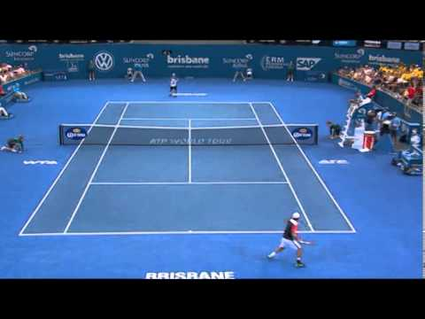 Lleyton Hewitt v Kei Nishikori - Highlights Men's Singles Semi Finals: Brisbane International 2014