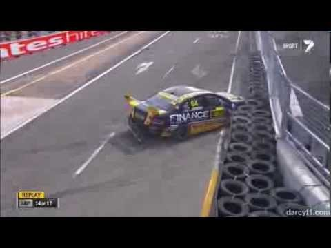 Heimgartner Crash @ 2013 Dunlop V8 Supercars Sydney Race 1
