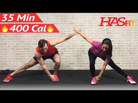 35 Min Low Impact Cardio Workout for Beginners - HIIT Beginner Workout Routine at Home for Women Men