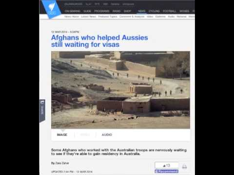 Zara Zaher  - SBS  - Afghan interpreters awaiting Australian Visas