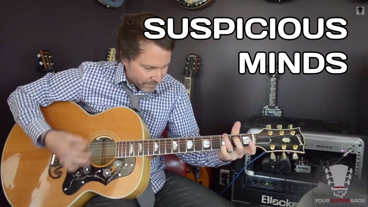 Suspicious Minds by Elvis Presley Guitar Lesson - YouTube