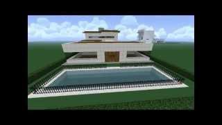 Como construir uma casa de luxo parte 1 vea mas videos for Casa moderna minecraft xbox 360