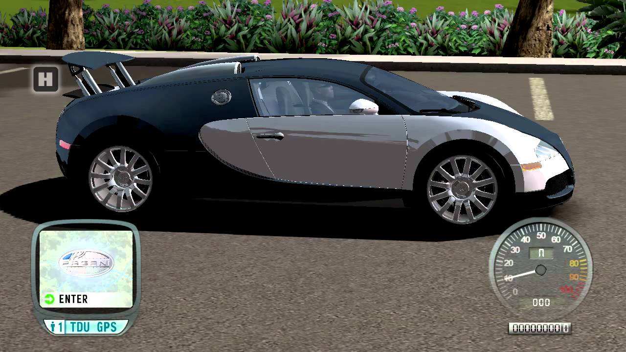 test drive unlimited bugatti veyron moving spoiler mod. Black Bedroom Furniture Sets. Home Design Ideas