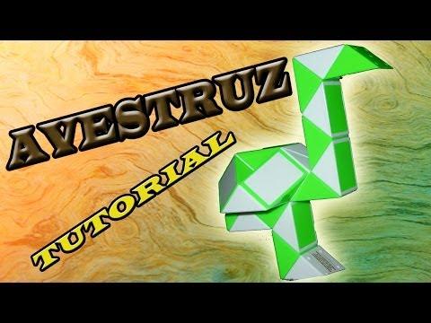 Como hacer Una Avestruz con Rubik Snake(Serpiente)/Twist Rubik´s en Español