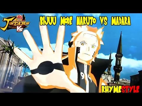 Naruto Shippuden: Kurama/Bijuu Mode Naruto & Sasuke vs Madara Uchiha (J-Stars Victory VS)