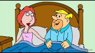 Fantasy Cartoon Encounter: Lois Griffin/Barney Rubble