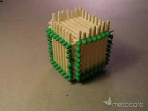 How to make a Matchstick Cube - Cách làm ngôi nhà bằng diêm