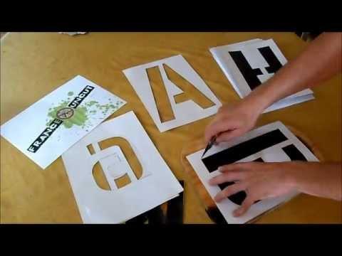 r alise un alphabet en pochoir youtube. Black Bedroom Furniture Sets. Home Design Ideas