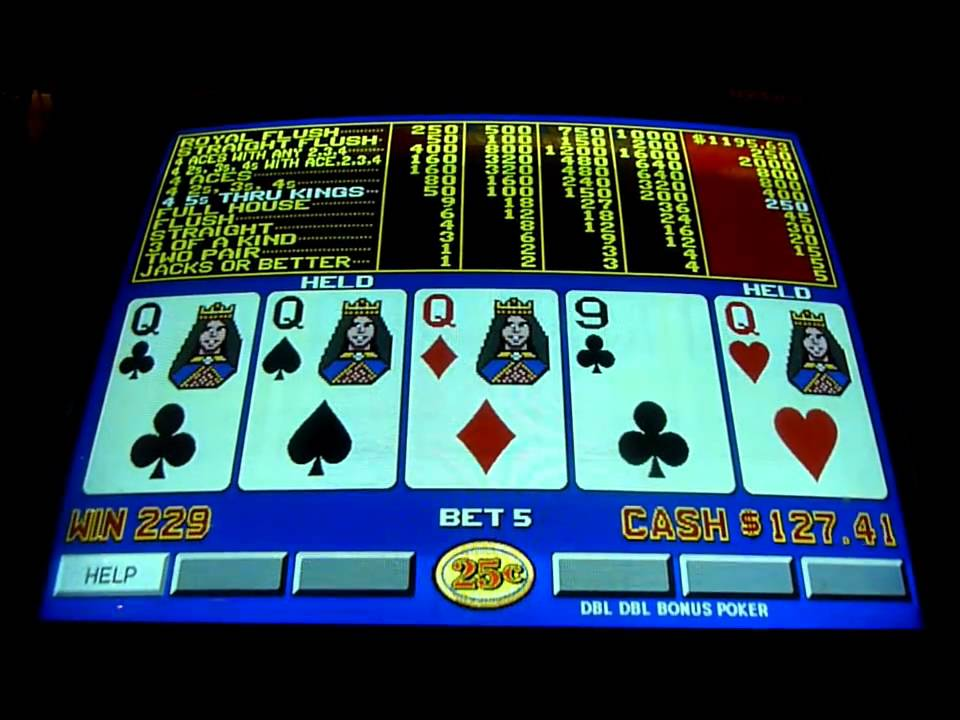Slot video poker machines