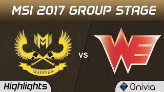 GAM vs WE Highlights MSI 2017 Group Gigabyte Marines vs Team WE by Onivia