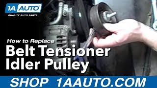 How To Install Replace Belt Tensioner Idler Pulley Chevy