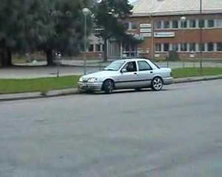 Ford Sierra with Holset turbo: Testing drifting capacity