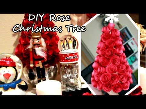 DIY Rose Christmas Tree -  DIY Papír rózsákból készített karácsonyfa