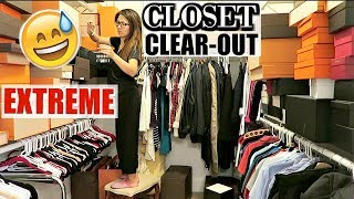 EXTREME CLOSET CLEAR-OUT | 🙈 DONATING ALMOST EVERYTHING | Organizing Boxes | CHARIS❤️