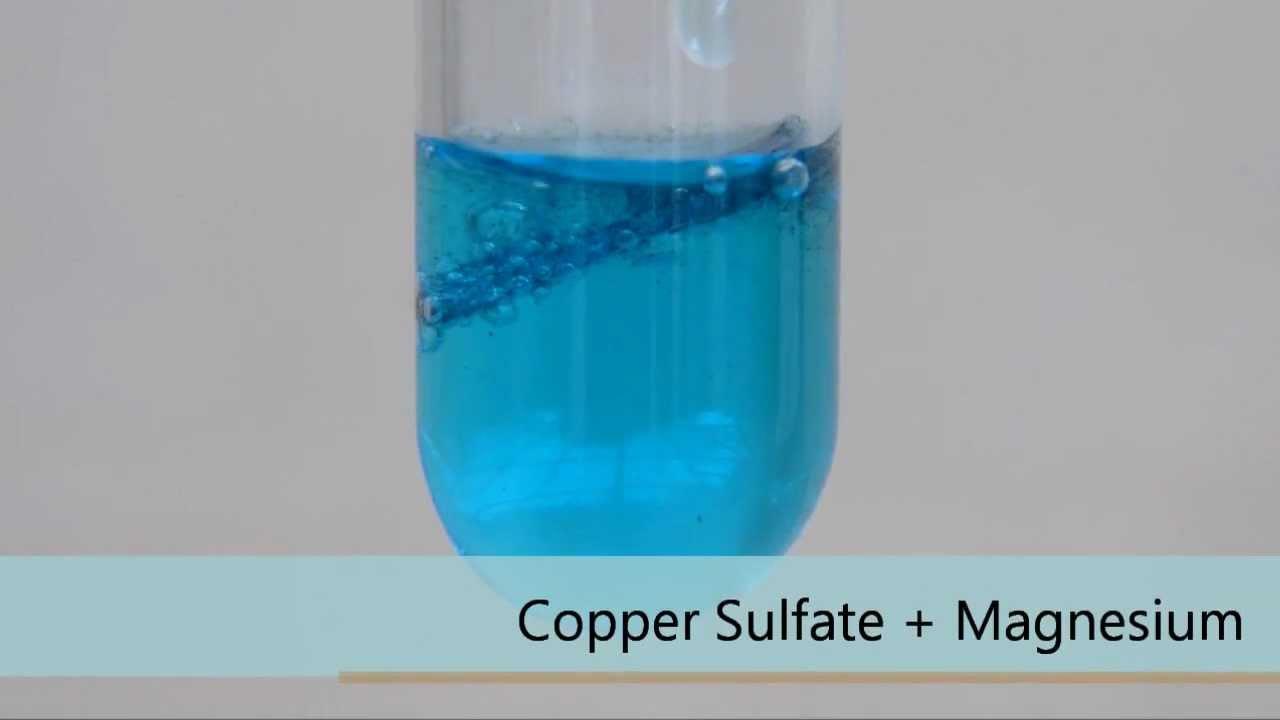 Copper Sulfate   Magnesium