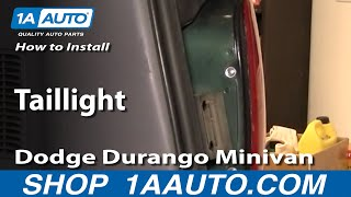 How To Install Replace Taillight Dodge Durango Minivan 96